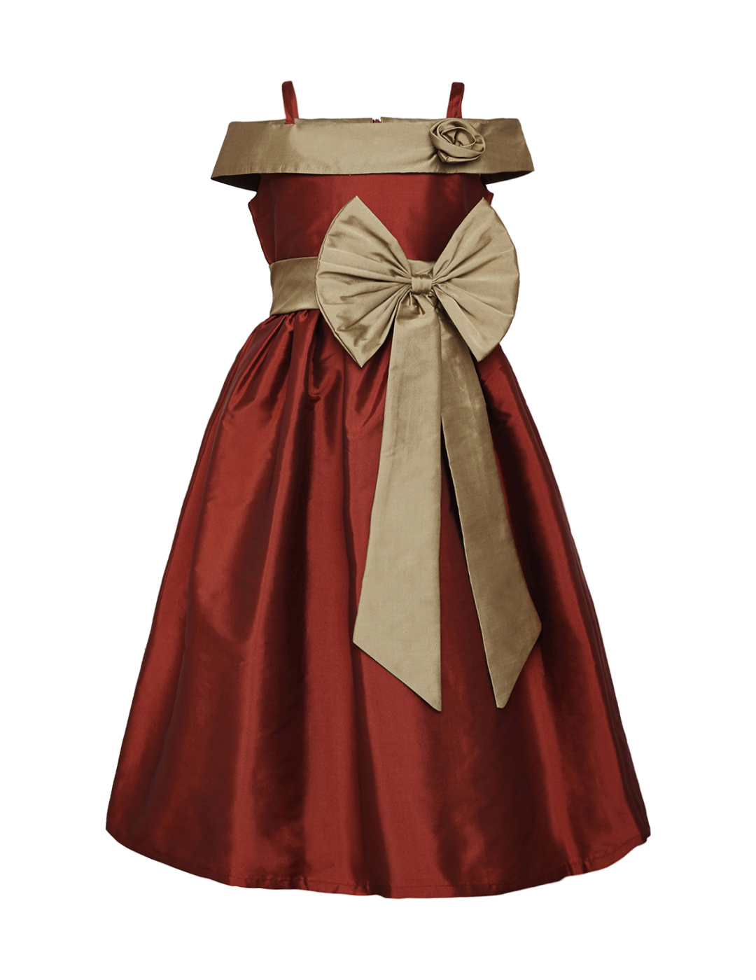 Burgundy and Gold Dresses